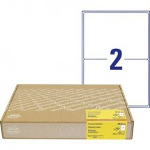 Avery-Zweckform 8018-300 Etichette 199.6 x 143 mm Carta Bianco 600 pz. Permanente Etichetta per spedizioni, Etichetta