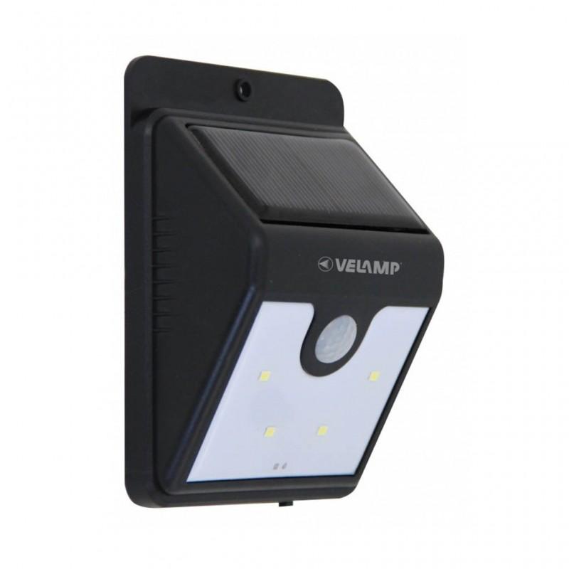 Velamp Dory Sl210 Lampada Led Da Muro 0,8W Con Pannello Solare E Sensore Di Movimento