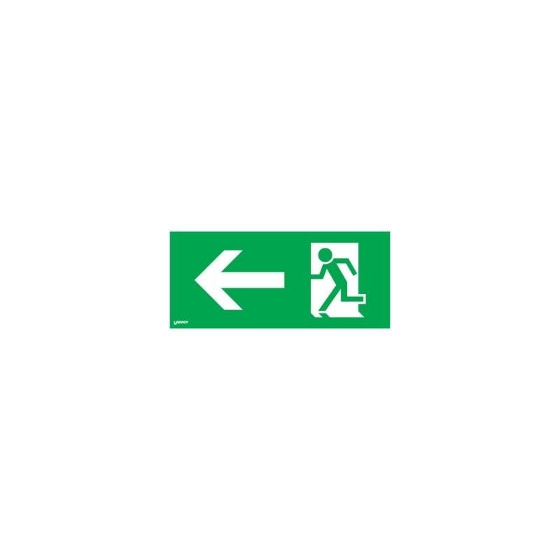 Cartello Uscita di Emergenza Pittogramma Linergy Per Prodigy Simbolo Freccia Sinistra PRIS01