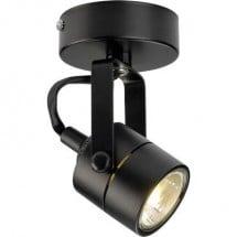 Faretto da soffitto Lampadina Alogena GU10 Classe energetica: a seconda della lampada 50 W SLV Spot 79 132020 Nero