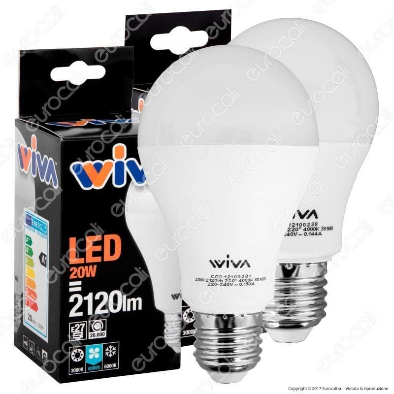 Wiva kit led combo pack power 2 lampadine e27 da 15w e 20w for Kit lampadine led