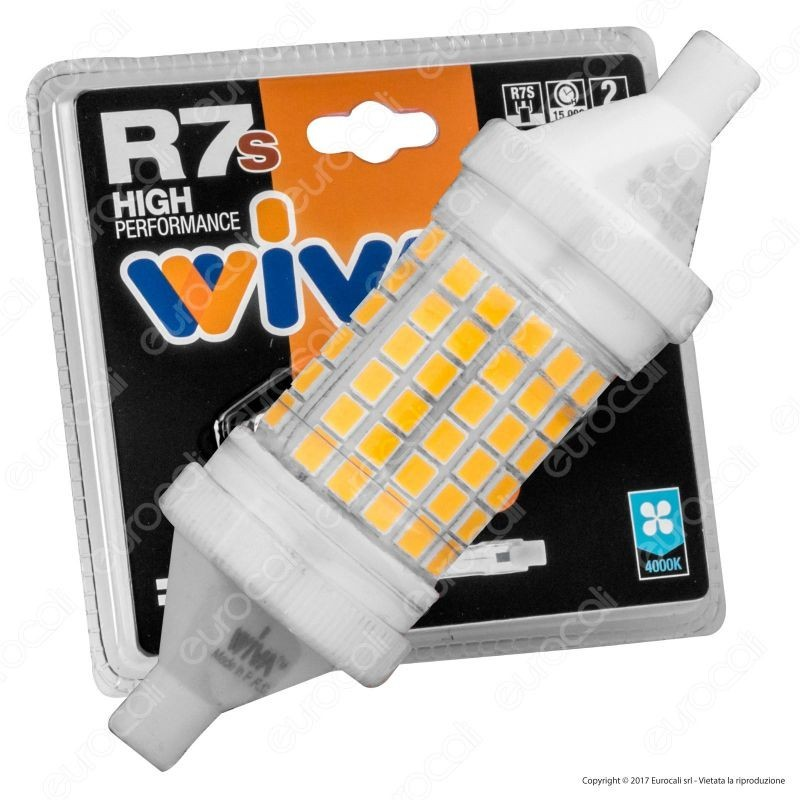 Wiva Lampadina Led R7S L78 11W Bulb Tubolare