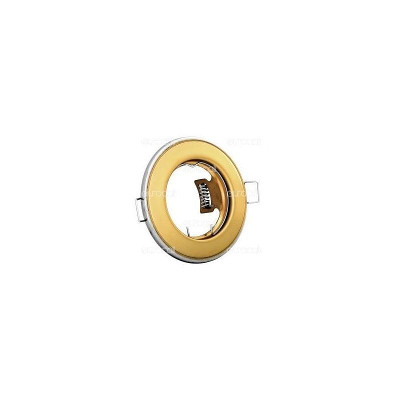 Kanlux HORN CTC-3114-PG/N Portafaretto Rotondo da Incasso per Lampadine GU10 e GU5.3