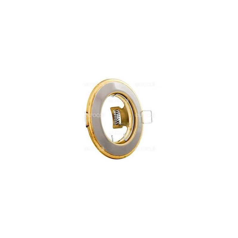 Kanlux HORN CTC-3114-SN/G Portafaretto Rotondo da Incasso per Lampadine GU10 e GU5.3