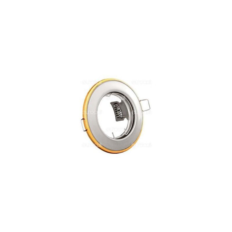 Kanlux HORN CTC-3114-PS/G Portafaretto Rotondo da Incasso per Lampadine GU10 e GU5.3