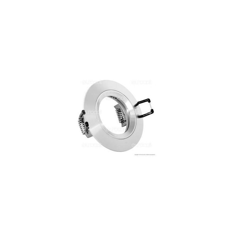 Kanlux TABO CT-AS02-AL Portafaretto Rotondo da Incasso per Lampadine GU10 e GU5.3