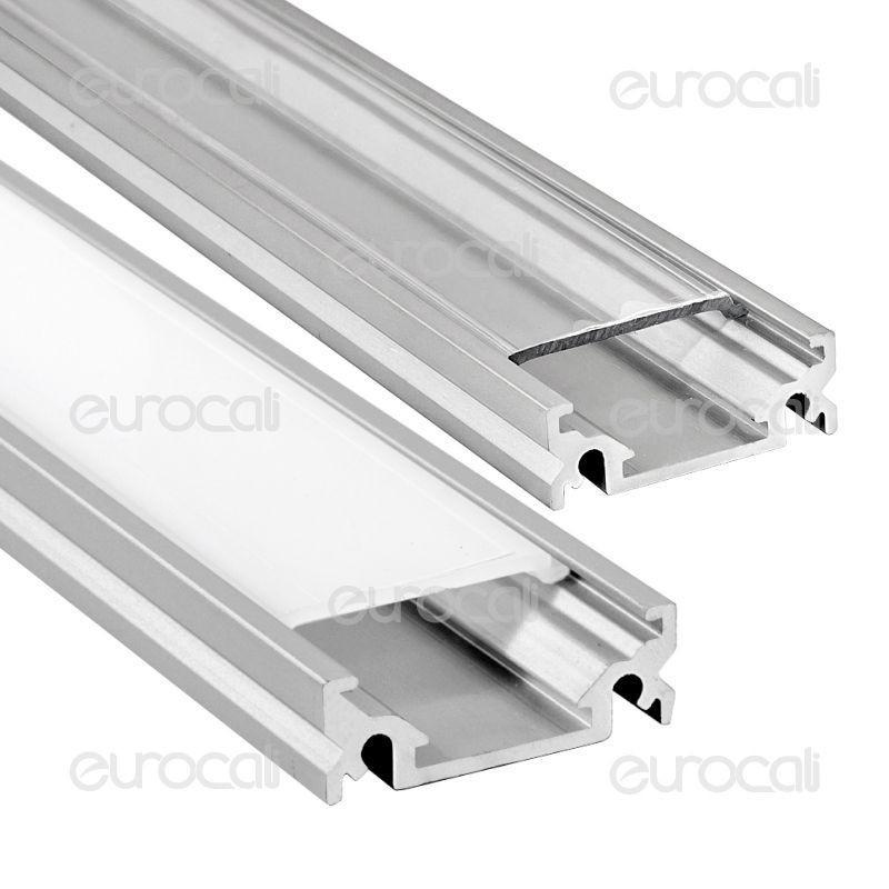 V-Tac Profilo In Alluminio Per Strisce Led Mod. 9985 - Lunghezza 1 Metro