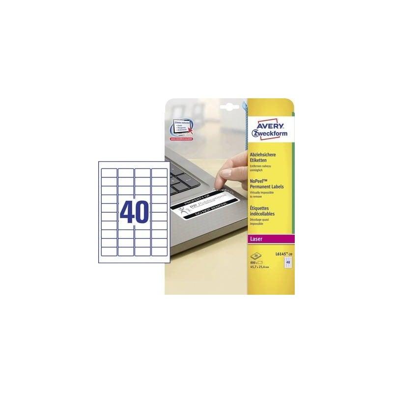 40 etichette per foglio A4-45.7 x 25.4mm angolo arrotondato Autoadesivo Etichette di piccole dimensioni