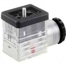 Connettore per valvola Trasparente M1TS2DL1 Poli:2 + PE HTP Contenuto: 1 pz.