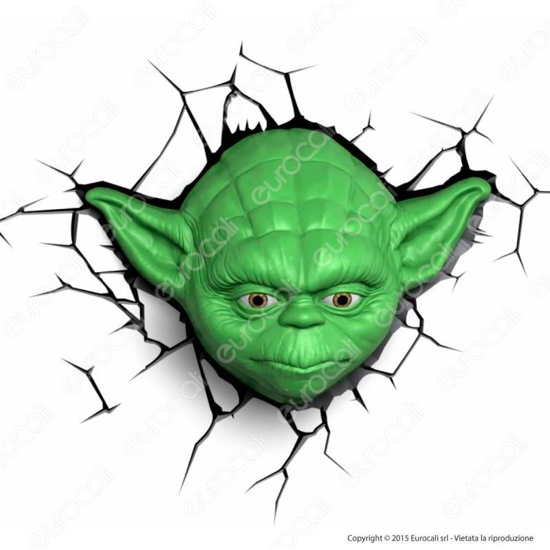 3D Light Fx Star Wars Yoda - Lampada Led A Batteria Guerre Stellari
