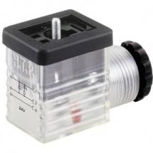 Connettore per valvola Trasparente M2TS2DL1 Poli:2 + PE HTP Contenuto: 1 pz.