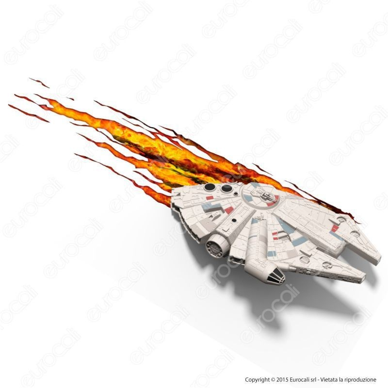 3D Light Fx Star Wars Millennium Falcon - Lampada Led A Batteria Guerre Stellari