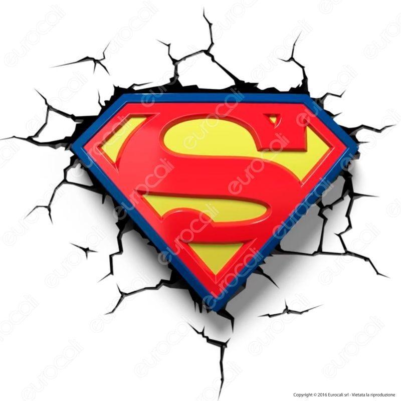 3D Light Fx Emblema Di Superman - Lampada Led A Batteria