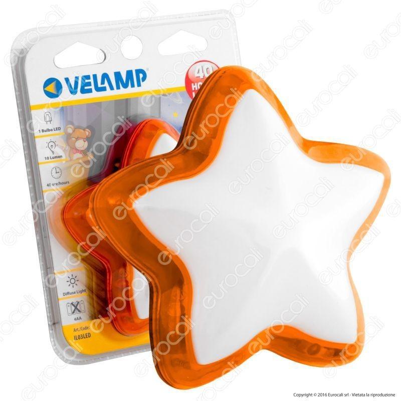 Velamp Il03 Stella Led A Batteria Con Accensione A Pressione