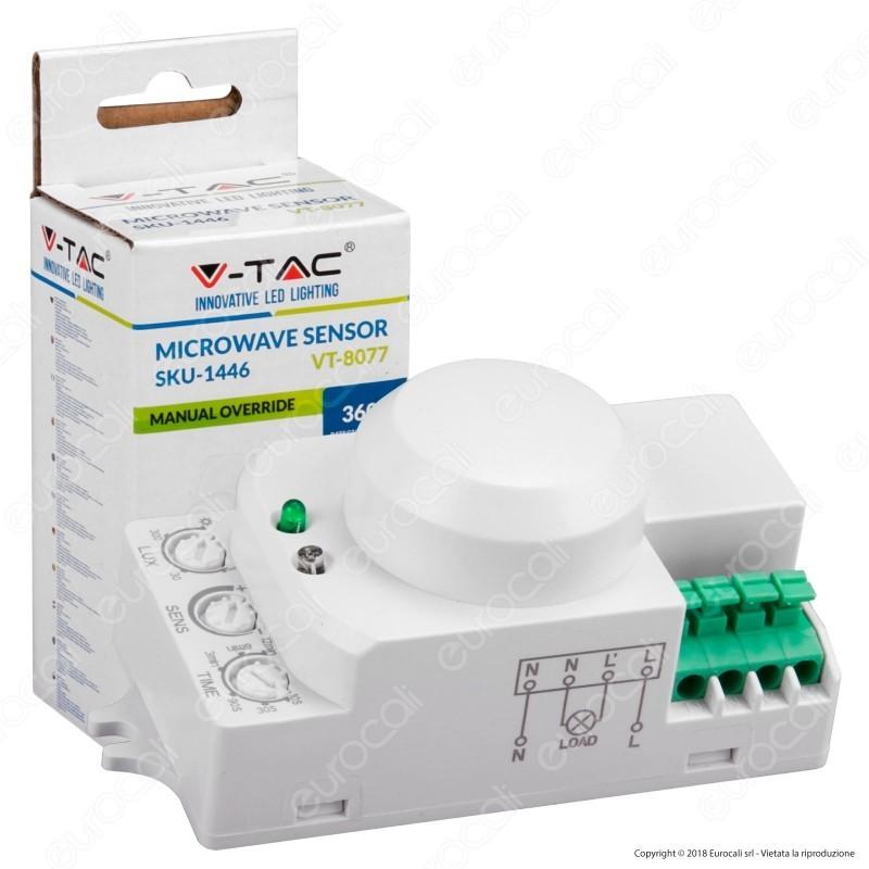 V-Tac Vt-8077 Sensore Di Movimento A Microonde Per Lampadine
