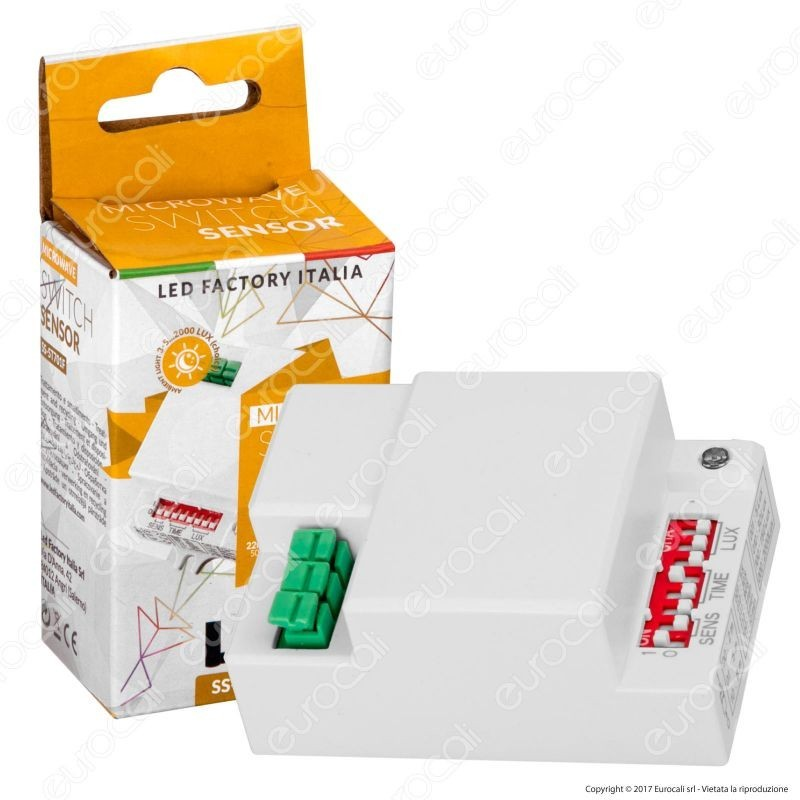 Led Factory Italia Sensore Di Movimento A Microonde Per Lampadine Ip20
