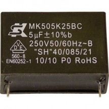 Seika MK250K224 1 pz. Condensatore MKP radiale 0.22 µF 250 V 10 % 15 mm (Ø x A) 12 mm x 6 mm