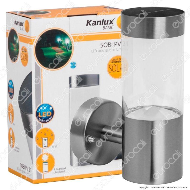 Kanlux Sobi Pv Lampada Led Da Muro 0,15W Con Pannello Solare