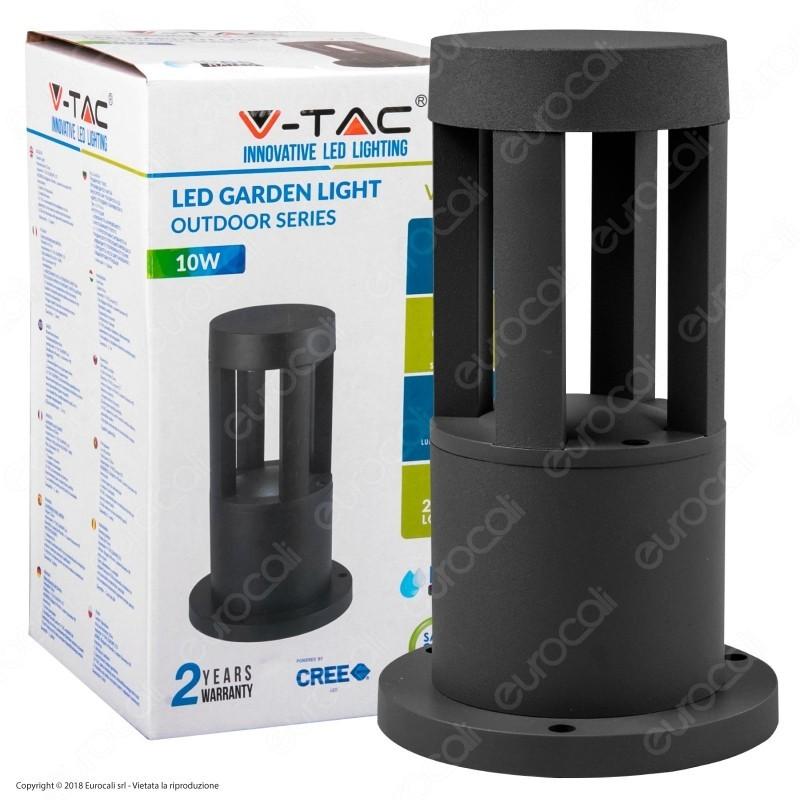 V-Tac Vt-830 Lampada Led Da Giardino Con Fissaggio A Terra 10W Colore Nero Ip65