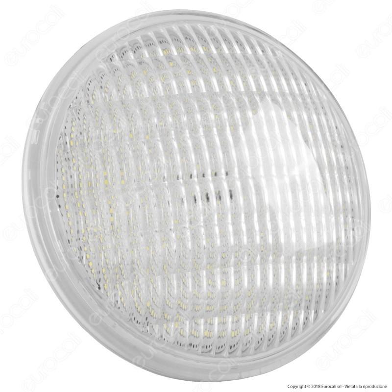 V-Tac Vt-1262 Faro Led Per Illuminazione Piscina Par56 12W Ip68 12V Attacco A Vite Luce Blu