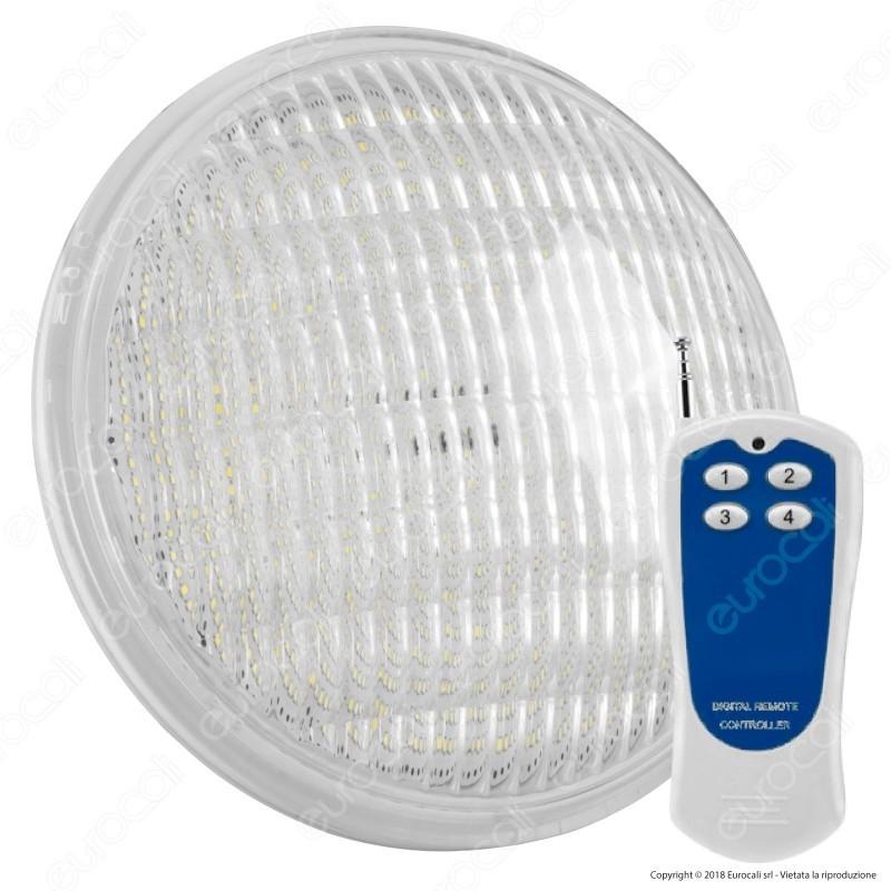 V-Tac Vt-1263 Lampada Led Rgb Da Piscina Par56 12W Ip68 12V Con Telecomando