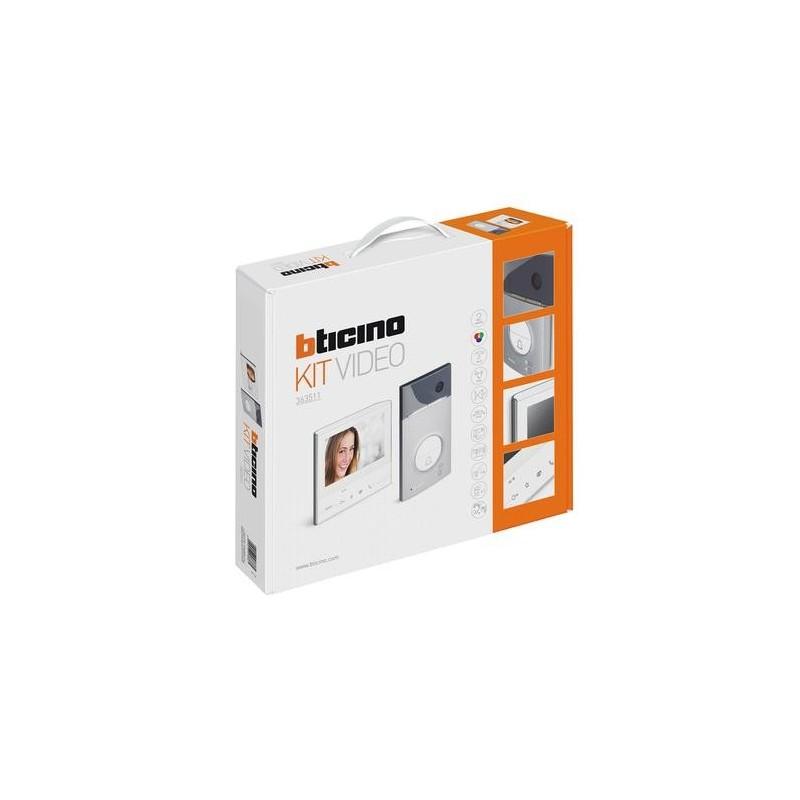 Kit Videocitofonico Vivavoce Monofamiliare Classe 300V13E Bticino 363511