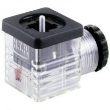 Connettore per valvole con diodo Nero, Trasparente Poli:2 + PE HTP Contenuto: 1 pz.