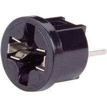 TRU COMPONENTS Porta lampada Attacco: W2.1x9.5d Connessione: Pin a saldare 1 pz.