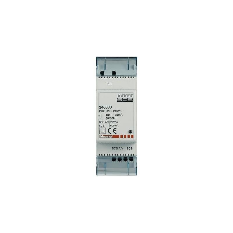 Alimentatore Bticino 672.Bticino 346030 Minialimentatore Alimentatore Compatto 2 Fili 230v Terraneo