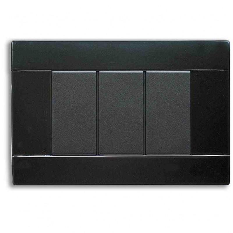 Placca ave serie 45 45p03nl nero 3 moduli - Interruttori ave sistema 45 ...