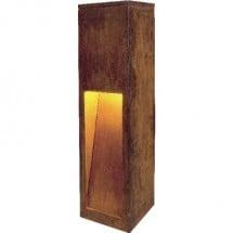SLV 229410 Rust Slot 50 Lampada da terra per esterni Lampada a risparmio energetico E27 11 W Classe energetica: a