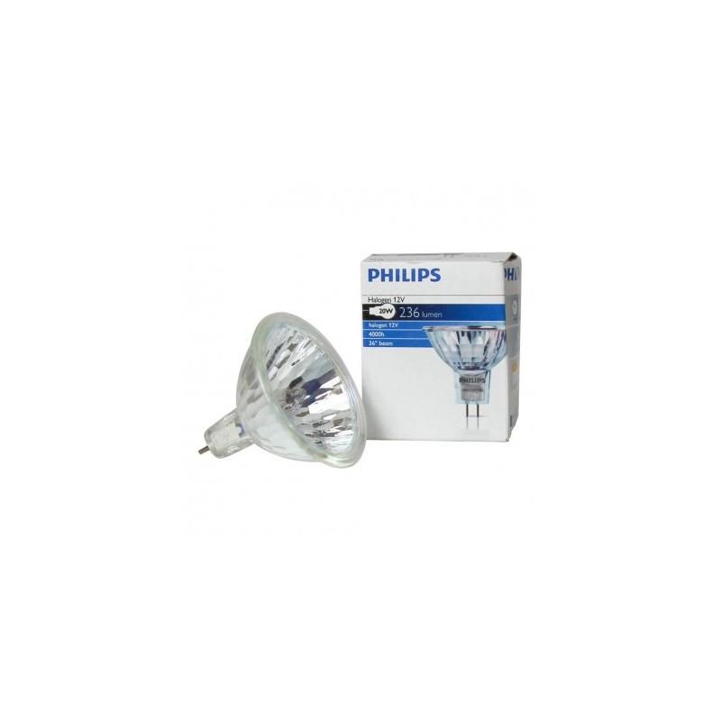 Faretto Alogeno Dicroico Philips 50W GU5,3 Luce Calda 3000K 2200 cd 14620