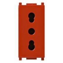 Vimar Plana 14203.R - Presa Bipresa Bipasso Bivalente Rossa Italiana Standard