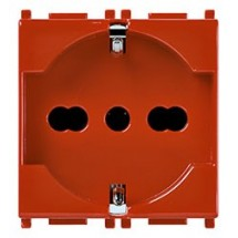 Vimar Plana 14210.R - Presa 2P+T 16A Universale Rossa