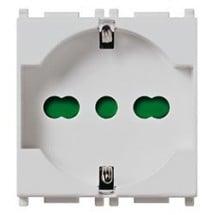 Vimar Plana 14210.SL - Presa 2P+T 16A Universale Grigia Silver