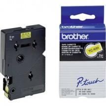 Cassetta nastro Brother TC TC-691 Colore Nastro: Giallo Colore carattere:Nero 9 mm 7.7 m