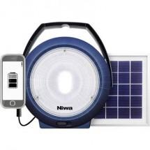 LED Luce da campeggio NIWA Multi 300 XL 300 lm a energia solare, via USB Blu 350093
