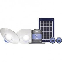 LED Sistema dilluminazione NIWA Home 200 X2 200 lm a batteria ricaricabile, a energia solare 3250 g Blu 350091