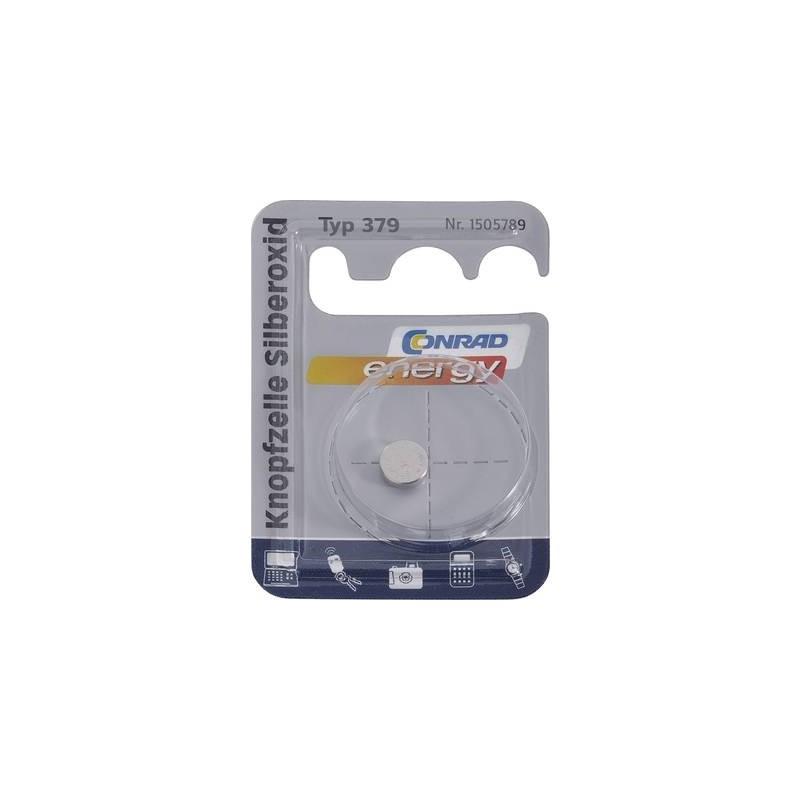 Conrad energy SR63 Batteria a bottone 379 Ossido dargento 16 mAh 1.55 V 1 pz.