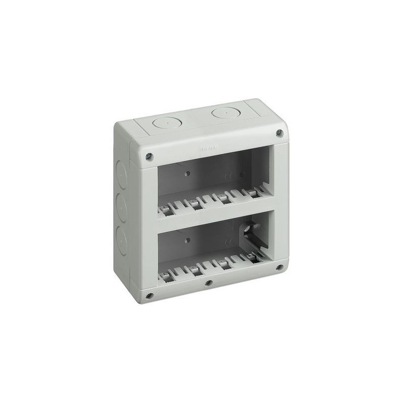 Custodia IP40 composta da base e coperchi 4+4 moduli Matix BTICINO 25408V