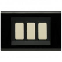 Placca Nera Compatibile Bticino Magic 1, 2, 3, 4, Schuko, 5 Moduli