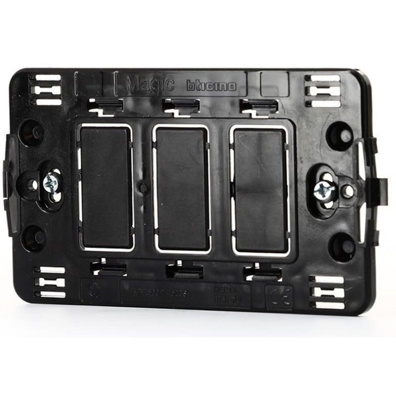 Supporto 3 Moduli Placche Compatibile Bticino Magic 1800 adattabili compatibili