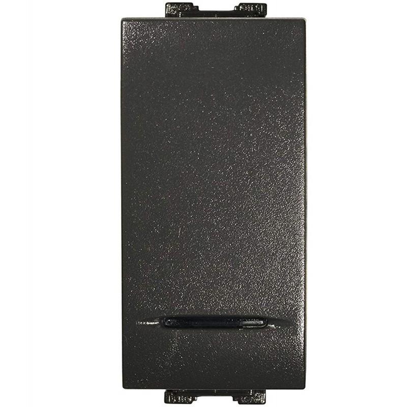 Deviatore Unipolare Illuminabile Feb Elettrica 14013 16Ax 250V Antracite