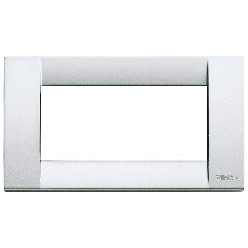 Placca argento metall 4 moduli prezzi costi offerte dove acquisto on line