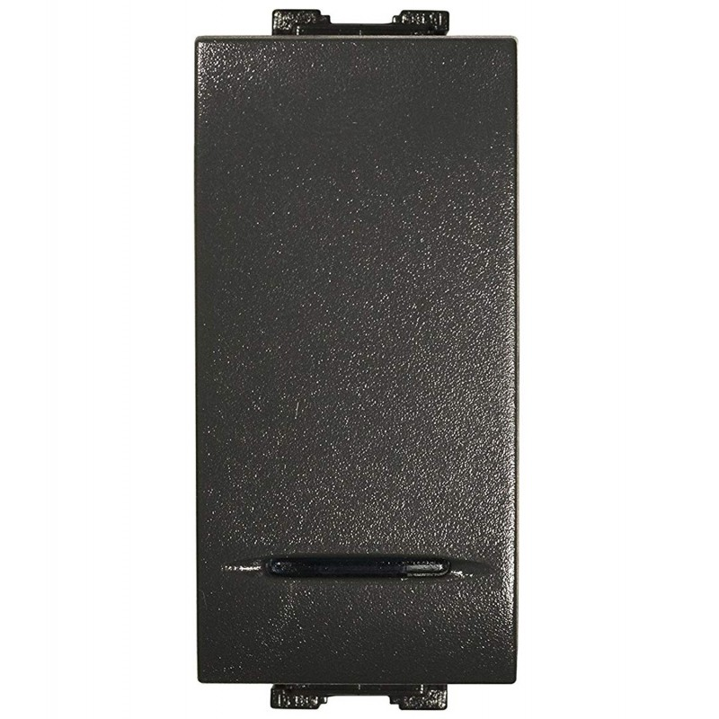 Interruttore Unipolare Illuminabile Compatibile Bticino Living Light 16Ax 250V Antracite