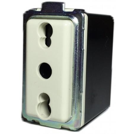 Presa Bivalente Italiano-Tedesca 2P+T 10A Compatibile Bticino Magic 7070.N