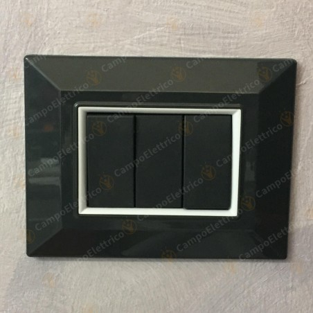 placchette non originali compatibili 3,4, 7 posti, vimar plana e eicon