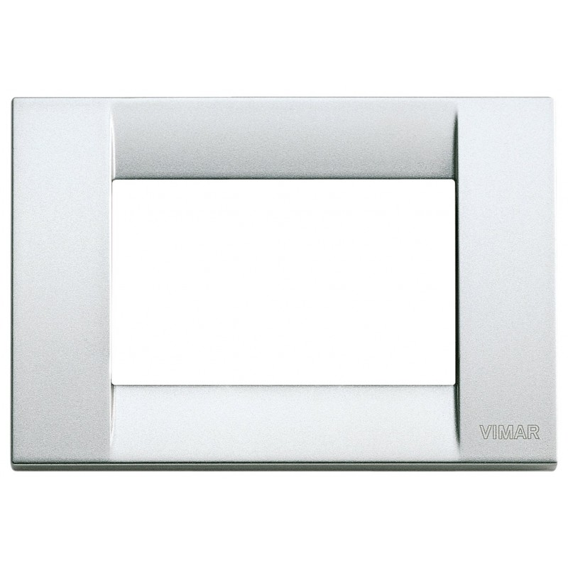 Placca Vimar Idea 16733.21 Classica in Metallo 3 Moduli Argento Metallizzato prezzi costi costo