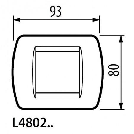 Bticino Living International Placca 2 Moduli Acciaio Scuro L4802Pa in Tecnopolimero