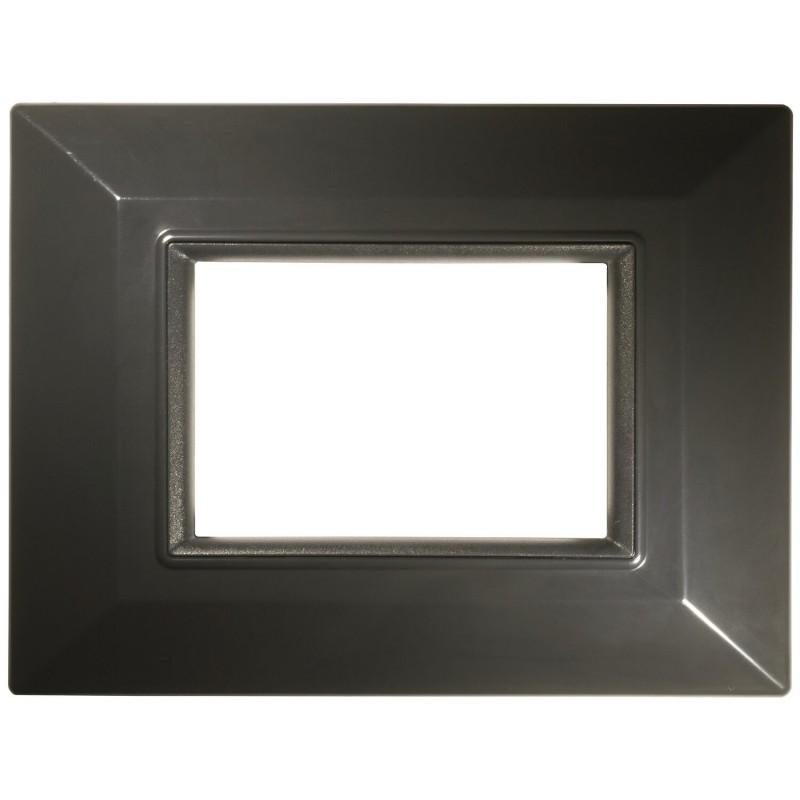 Placca Compatibile Bticino International e Living Light Grigio Scuro 3, 4, 7 Posti Tecnopolimero